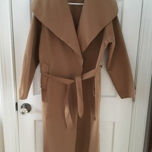 New Collection Camel Waterfall Coat